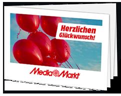 "Geschenkkarte ""Ballons"" Sofortdruck"
